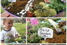 Fairy garden and cubby