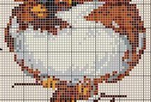 haft krzyżykowy-ptaki