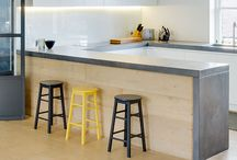 Spaces: Wood in Kitchens / Different uses of wood in kitchen design