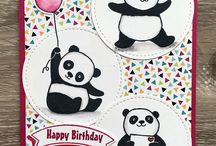 Cards - Party Pandas Stampin Up!