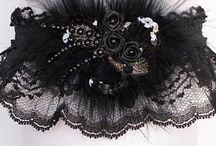 Black Garter for Wedding Bridal Prom / Alluring Black Lace Garter for Wedding Bridal or Prom. Unique garter styles from little obsessions to maximum impact. All of our garters can be personalized with your names and event. Black Wedding Garter - Black Bridal Garter - Black Prom Garter - Black Fashion Garter *** Custom Accessories Garters LLC - www.garters.com  / by garters.com