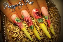 My world / My world, your nails #psas,#nails,#nailart,#onestroke