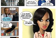"Scandal (ABC TV) / Here's my ""Scandal"" themed cartoon for my webcomic Harambee Hills. / by Kerry G. Johnson Illustrations ..."