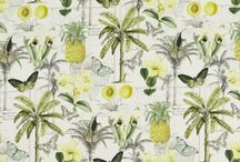 Tropical Interiors / Celebrating tropical design schemes. Palm leaves, pineapples and bold green prints transform interiors into an island escape. This board features both tropical fabrics and wallpapers alongside some of our favourite interior design projects.
