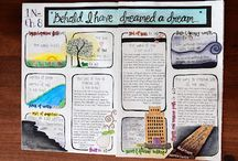 """Scripture Journal Inspiration / All things related to creating an artsy scripture journal or to assist in scripture studying. I have moved some pins to another board titled """"Used Scripture Journal Goodies"""" in order to help me filter better. Since those are ideas I have used you may want to follow that board as well."""