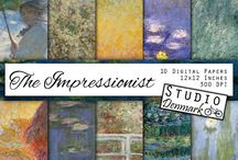 Watercolor, Paint, and other Artsy Backgrounds and Graphics