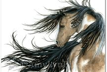 HORSE ART~ Drawings, Paintings, Etc. / by Cindy Mihalick