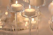 Sala dekoracje - świeczki