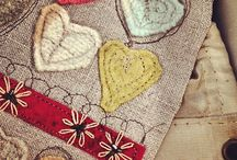 Stitched hearts / Hand stitched