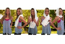 Warm up, Cool Down, No Sweat! / New product release, the Hooded Infinity Sport Towel Patented Design D 693,096