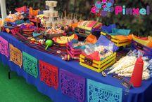 Mesa de dulces mexicanos