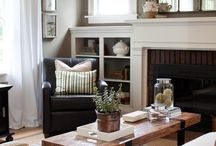 fireplace shelves