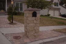 Mailbox columns by Custom Stoneworks & Design Inc. Balto MD / different styles of mailboxes