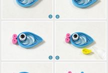 ψάρι από χαρτί κολιε