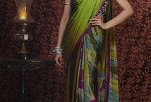 Digital print sarees