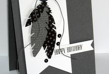 Stampin up! Four Feathers