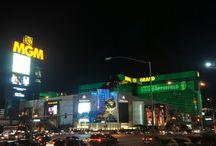 a night view of Las vegas
