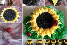 Sunflower cup cakes