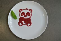 Plate Decorations / Some plate decorations by Foodini, a 3D food printer