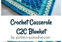Crochet casserole blanket
