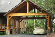 Carport / Carport that compliments our log house