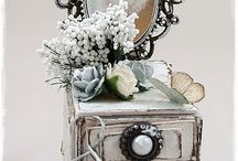 Altered Boxes and Tins / Lovely altered boxes and tins with loads of eyecandy! / by Debbie Patterson (Laughngypsy.etsy.com)