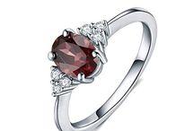 """Elegant Red"" Damenring Silber 925"
