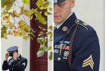 Real Wedding - Savannah Military Wedding / Southern military wedding in the fall. Pumpkin and navy details.