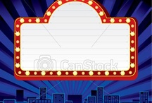 Hollywood / Academy Awards Party / marquee / by Margaret Slade