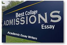 Admission Essays / Academic Essay Writers help you in making your admission essay, personal statement and scholarship essay exceptional and beyond reproach. We have experienced admission essay writers.