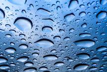 Water drops / Rain through the sunroof