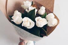 Paper, fowers bouquet