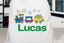 Personalized Tote Bags / Get ready for summer with our Personalized Tote Bags. Let's get the kids on the go for summer camp, outdoor activities or a sleepover.