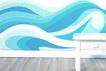 Wave murals