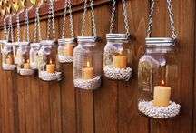 DIY- jars,vases,candles,glass items,etc / by Sheena D'Andria Devine