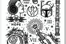 outline tattoo