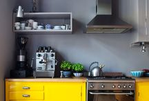 yellow petrol kitchen