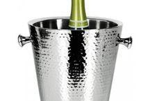Edle Champagner Wein Sekt Cava Prosecco Cremont Kühler Eiskübel / Edle Champagnerkühler Silber versilbert Weinkühler Sektkühler Eiskübel