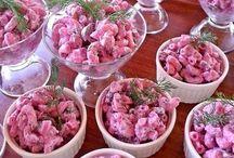 pembe makarna salatası