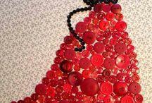 Button art dresses