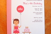 Kids Birthday Invitations / by Isabel Pereira