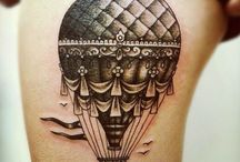 hot air ballon tattoos