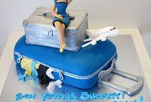 Bon Voyage Cake Ideas / Farewell, Bon voyage,  Austrailia, USA, Aeroplane, suitcase