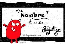 Tu Nombre al Estilo Guyuminos© /  #nombres #significado #guyuminos #ilustracion #cute #kawaii