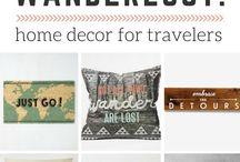 Travel room decor