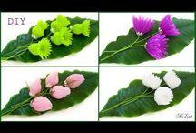 kvety z organzy
