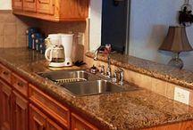 Kitchen redo / Granite/tile colors / by Cindy Carnes