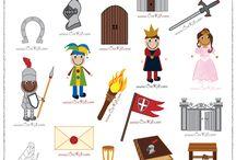 thema; ridders en kastelen