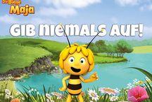 schöne Worte / Aufmunternde, lustige und erfrischende Sprüche und Zitate mit unseren Charakteren aus Wickie und die starken Männer, Heidi und Die Biene Maja!