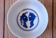 Ceramics - Eddy Varekamp and Norman Trapman / Ceramics made by Norman Trapman and handpainted by Eddy Varekamp